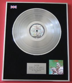 QUEEN - News Of The World PLATINUM LP presentation Disc